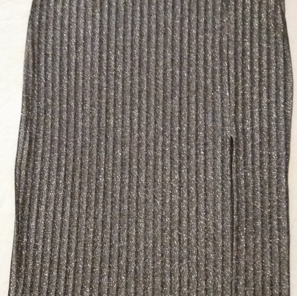 H&M Dresses & Skirts - Black and silver xl pencil skirt